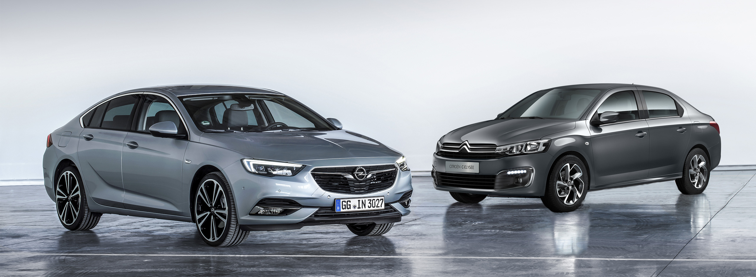 Opel Insignia und Citroen Elysee