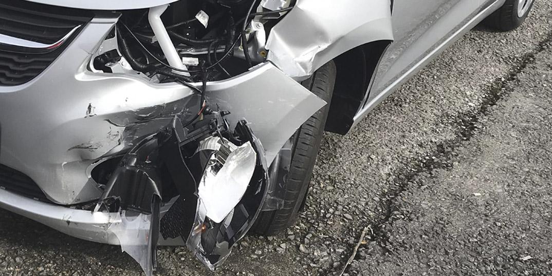Fahrzeug mit Unfallschaden